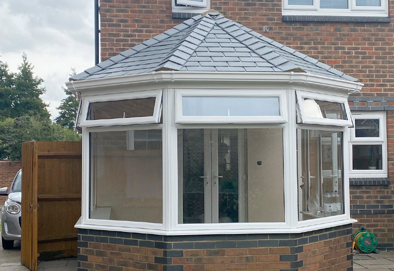 Alternative to Glass Polcarbonite conservatory roofing